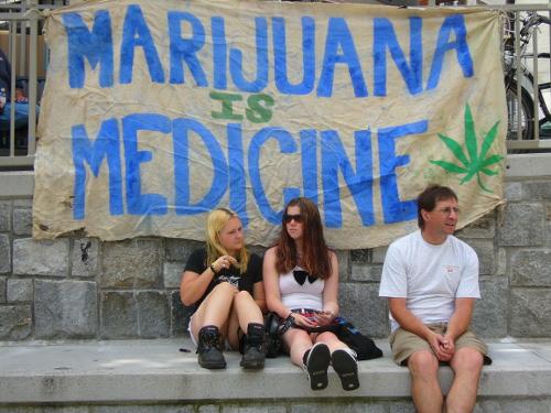 Marijuana protest in Vancouver.